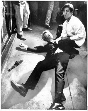 Robert Francis Kennedy assassinated June 5, 1968 in the Ambassabor Hotel after just winning the California Presidential primary.