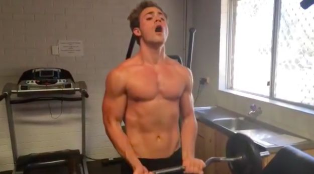 """His name is Dacre Montgomery and this is the face he makes when he lifts weights:   FYI, The New """"Power Rangers"""" Are Hot As Hell"""