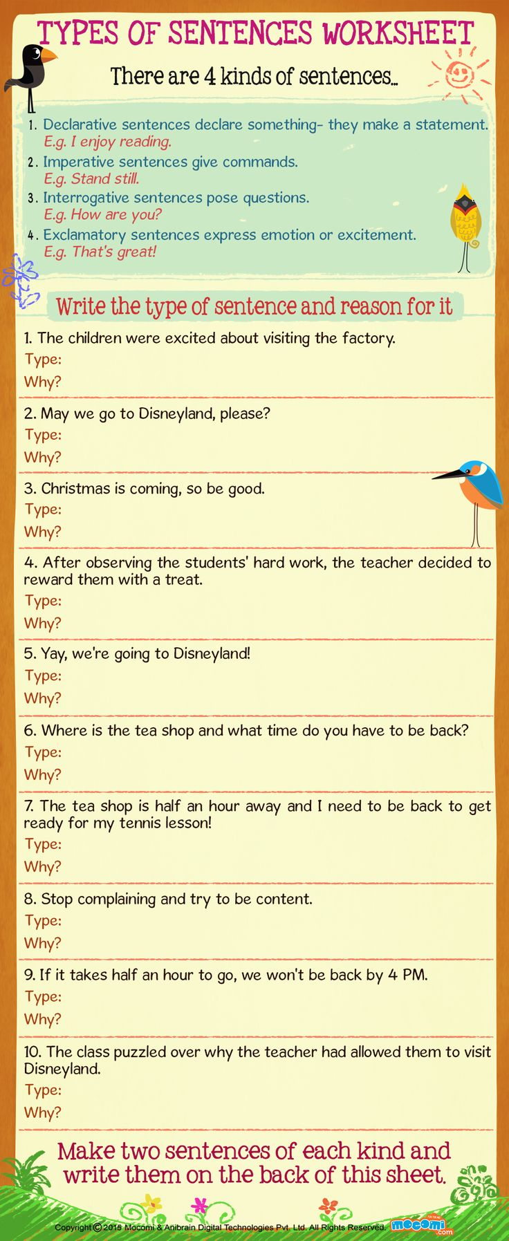 Free Worksheet Imperative Sentence Worksheets 17 best ideas about sentences in english on pinterest make learn the 4 types of language declarative imperative interrogative and
