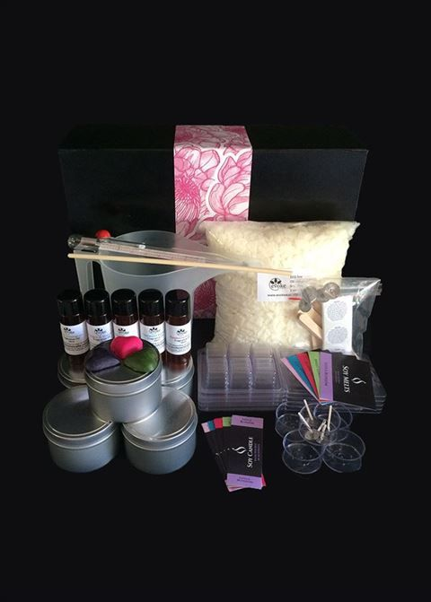 Soy Candle Making Kit with professional labels