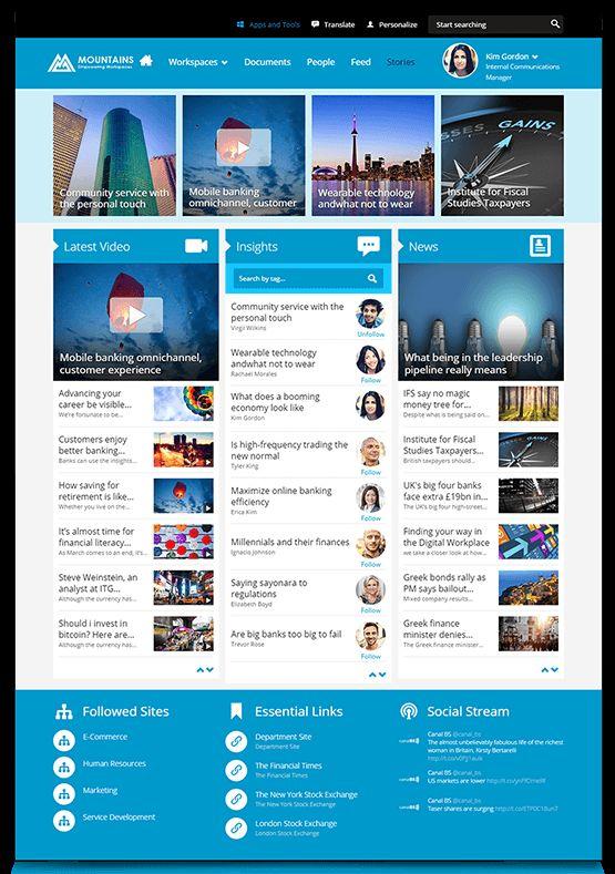 14 Best Intranet Design Images On Pinterest | Sharepoint Intranet, Layout  Design And Site Design