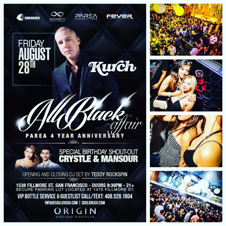 8/28 OMGFridays! It's HUGE, RSVP FREE GL + VIP/Table early reservations highly recommended! • www.SOULKRUSH.com   • VIP/Table call text • 408-529-1804 • DJs • HouseNerds from Korea • Paulban • Teddy Rockspin • Kurch • Happy Birthday Crystle Kelli • Happy 4 Years Parea Production  #SoulKrush #Entertainment #Nightlife #SF #Origin #Fillmore #OMGF #OMGFridays #Party #Clubbing #Turnup #소크 #샌프란 #한인 #유학생 #파티 #클럽 #음악 #소울크러쉬