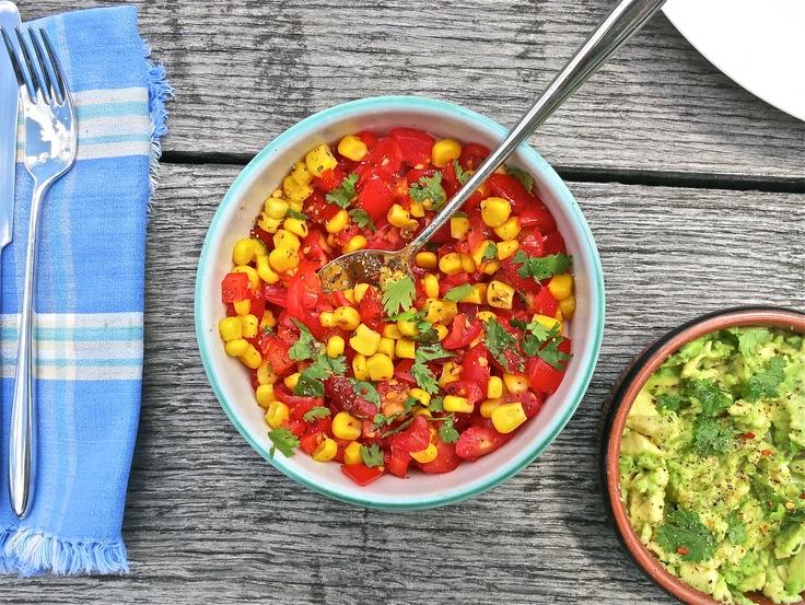 Spicy tomato, pepper and corn salsa