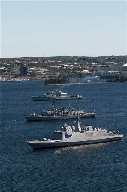 (Top to Bottom) Her Majesty's Canadian Ship Athabaskan (FFH – 282) , a Canadian…