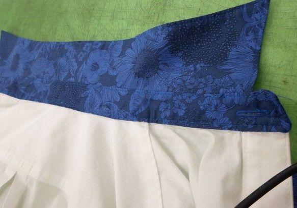 青いシャツです ハンドメイド、手作り、手仕事品の通販・販売・購入ならCreema。