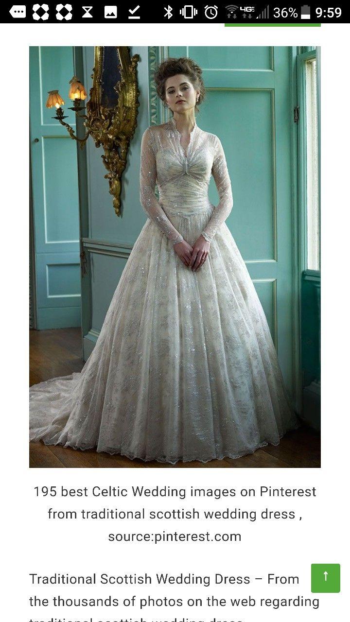 Scottish wedding dresses  Celtic wedding dress Beautiful option  weddings  Pinterest