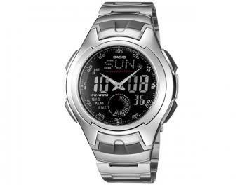 Relógio Masculino Casio Mundial AQ 160WD Anadigi - com Cronômetro Calendário e Horário Mundial