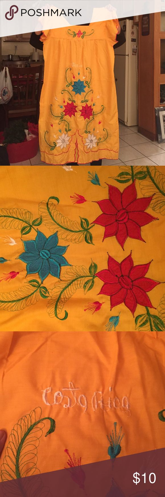 Yellow Festive Dress Brand-new never used from Costa Rica Dresses