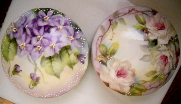 June Watson with BlueBonnet Porcelain Art Club, China painting on porcelain, china and glass