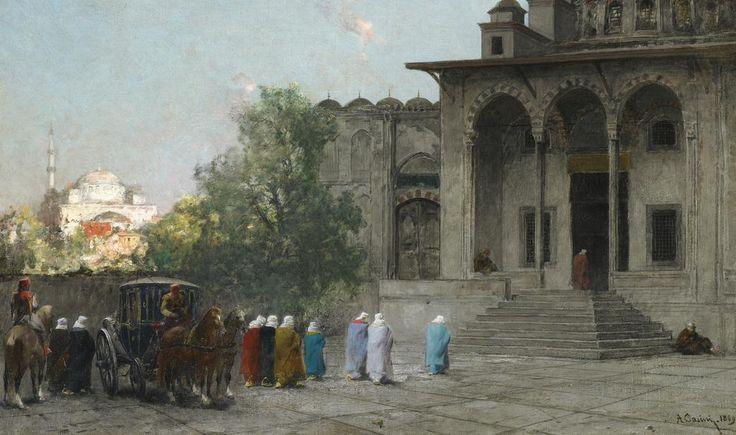 Ottoman Women at the Mosque, Istanbul, 1869 (Osmanlı Kadınları Camide, İstanbul, 1869) #OttomanEmpire