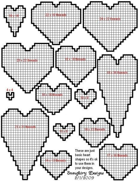 plastic canvas heart patterns | Via Samantha Begay