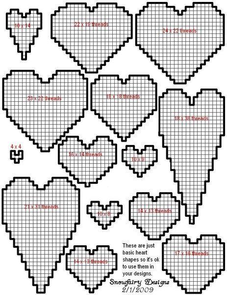 plastic canvas heart patterns | Via Samantha Begay