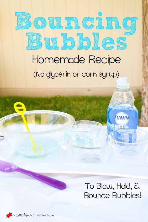 Homemade Bouncing Bubbles Recipe + Video (No glycerin or corn syrup)   A Little Pinch of Perfect