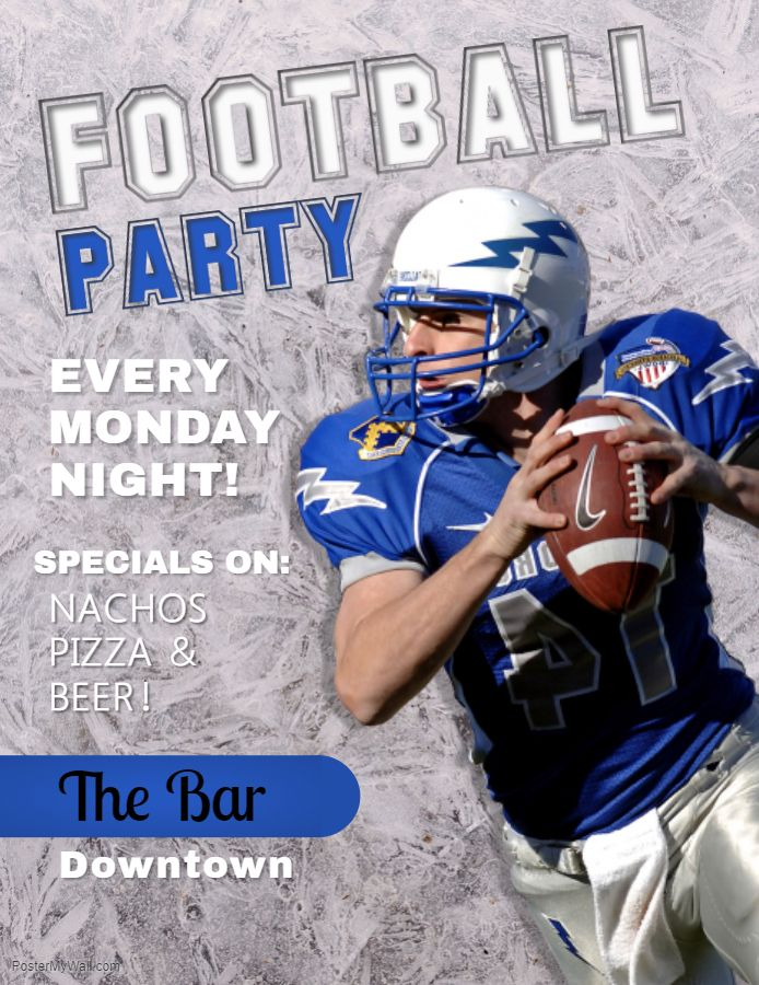 High School Football Tailgate Party Flyer Design Football Tailgate Party Football Poster Party Flyer