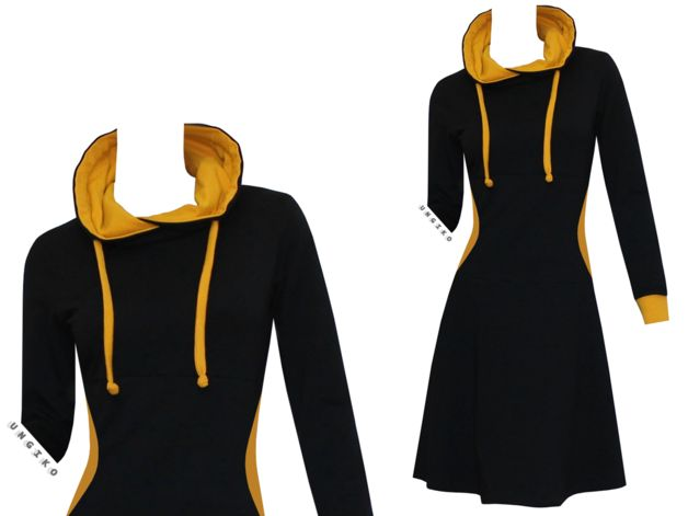 Entdecke lässige und festliche Kleider: OUTLET Sweatkleid Tessa Gr.36 Neupreis 89 Euro made by ungiko via DaWanda.com