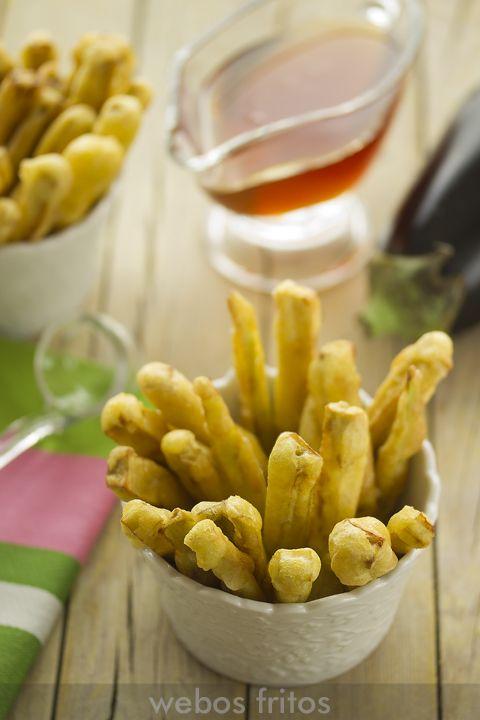 Un entrante sencillisimo ideal para los amantes de esta verdura: palitos de berenjena con miel