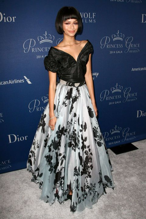 Zendaya Coleman at the 2014 Princess Grace Awards Gala in Beverly Hills. See all of the actress's best looks.