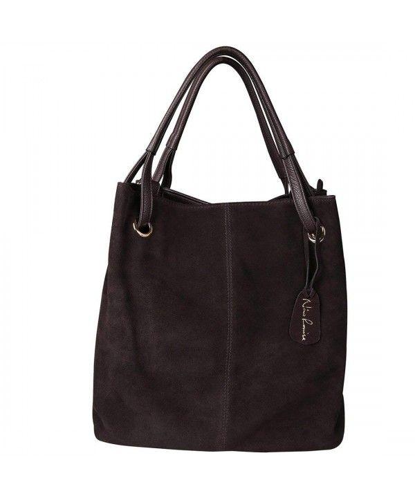 Women s Bags, Totes, Women s Genuine Leather Suede Purse Shoulder Bag  Casual Tote Handbag - Deep Coffee - CR185RLK3DI  Women  Bags  Fashion   Handbags ... 444bdb7afa