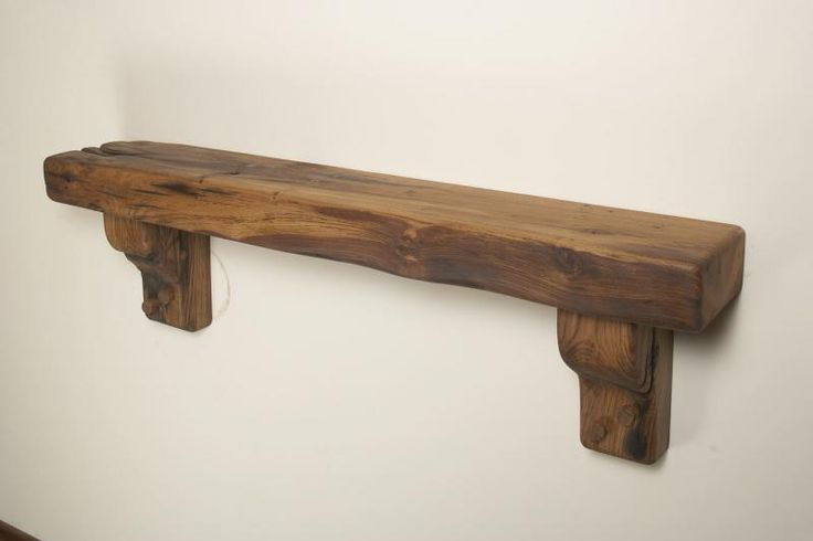 "Chunky beam or French Oak over mantel 9"" x 4"" (230mm x 100mm) or under...illustrated is Oiled French Oak with Corbal Supports"