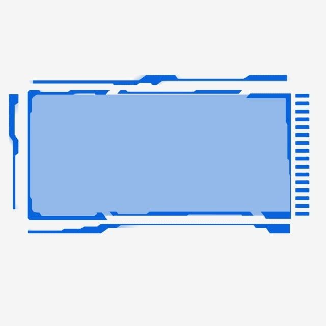 Blue Rectangle Technology Sci Fi Border Dialog Background Material Blue Technology Science Fiction Png Transparent Clipart Image And Psd File For Free Downlo Sci Fi Graphic Design Background Templates Clip Art