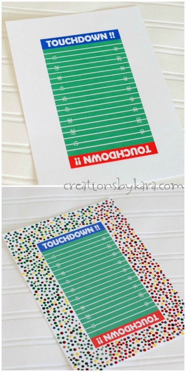 Free printable and tutorial for a Football Valentine Box