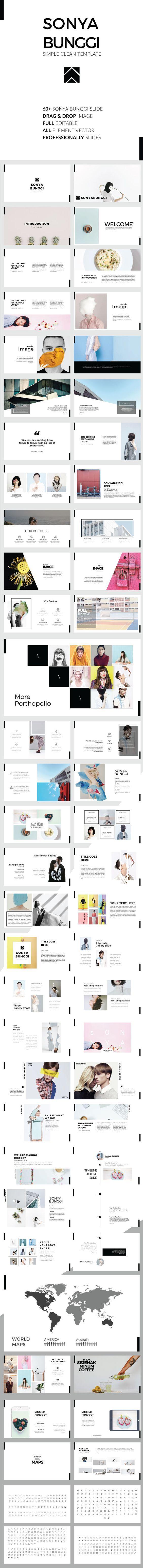 Sonya Bunggi - Simple Clean Keynote Template