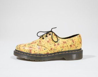 DR MARTENS - Scarpe in pelle floreali