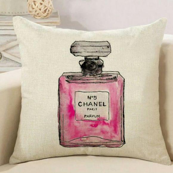 Pink Perfume Bottle Decorative Pillow Case Perfume Bottles Decorative Pillow Cases Pink Perfume