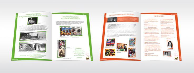 """Embajada de Colombia en Ecuador. Creación de la imagen para el evento Feria del Libro de Quito 2011, """"La feria de las Identidades"""". Diseño y diagramación del dossier."""