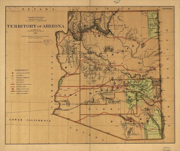 A Map Of The Arizona Territory From In Preparation For Our Trip To Ancestral Homeland Visit Us At Filmbar Phoenix And The Loft In Tuc