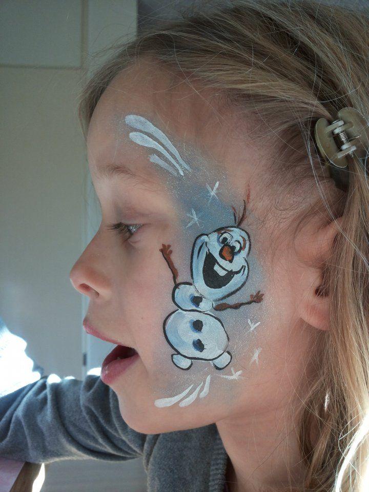 Olaf Frozen Facepainting by Tamara van www.flippo-art.nl