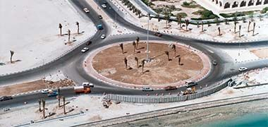 Roundabout adjacent to the Ministry of Information