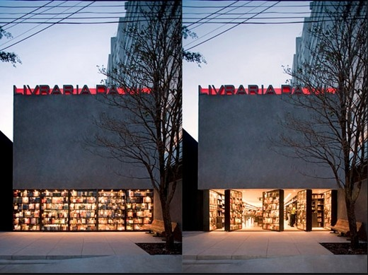 That's divine! I love books, movies and music and that's my number 1 bookstore in São Paulo.