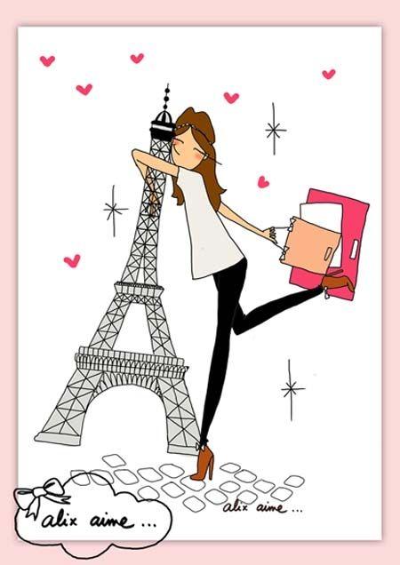 Illustration I LOVE PARIS : Affiches, illustrations, posters par alixaime sur ALittleMarket