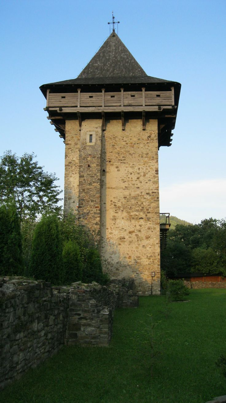 Tower by  Emil Langhe  on @deviantART in Bucovina at Moldovita Monastery