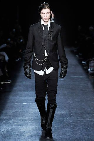 Ann Demeulemeester Fall 2011 | a killer look! It's like a butler's outfit. You can serve me anytime. ;)