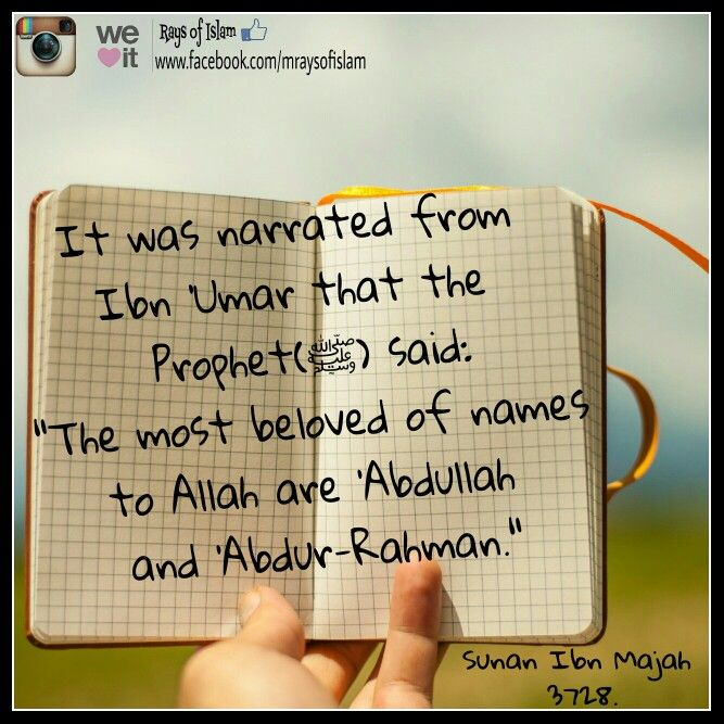 The Most Loved Names in the Sight of Allah
