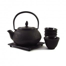 Japanese Cast Iron Tea Set For Four / Traditional Japanese tea set - the perfect gift for any tea lover