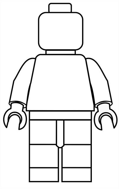Printable Lego Mini Fig Drawing Template for the kids to color!