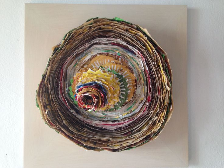 Spiral Made with tea bag packages