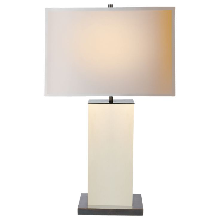 dixon tall table lamp in espresso leather with natural paper shade - Tall Table Lamps
