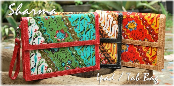 my own creation for Ipad/Tab bag with ethnic twist. Please visit: www.nyai.co