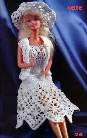 Image result for jardineira de croche para barbie