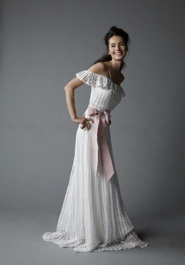 Wedding elegant long crochet women dress от AsDidy на Etsy