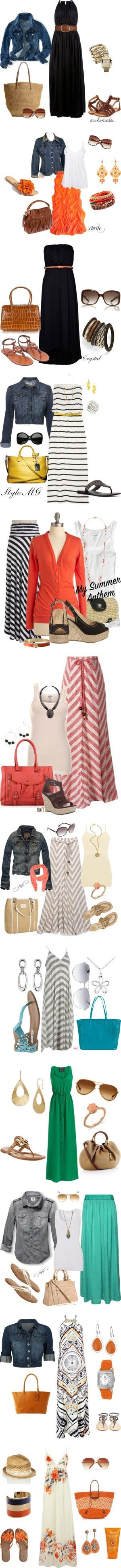 """Summer Maxi's"" by gbean425 on Polyvore"