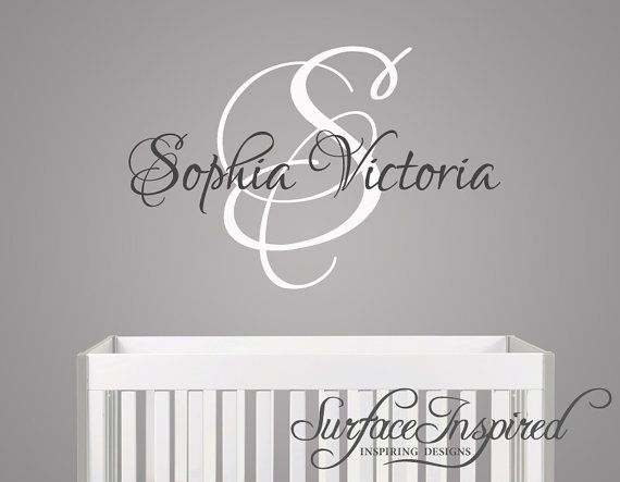 Name Wall Decal - Monogram Wall Decals for Nursery - Custom wall words 985 on Etsy, $29.95