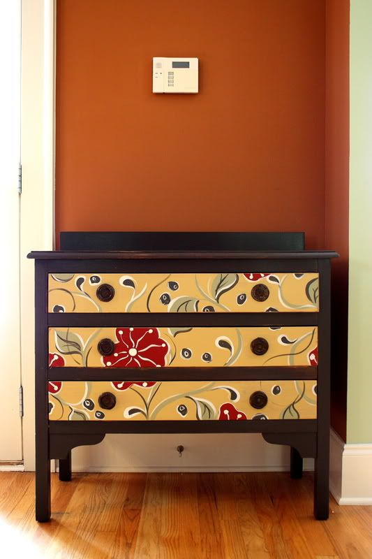 Decoupage Instructions and Inspiring Ideas!  3. FLOWERY DRESSER