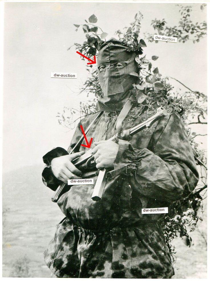 Soldat mit MP und Scharfschütze Sniper Maske Elite Tarnjacke (größeres Foto) TOP   eBay