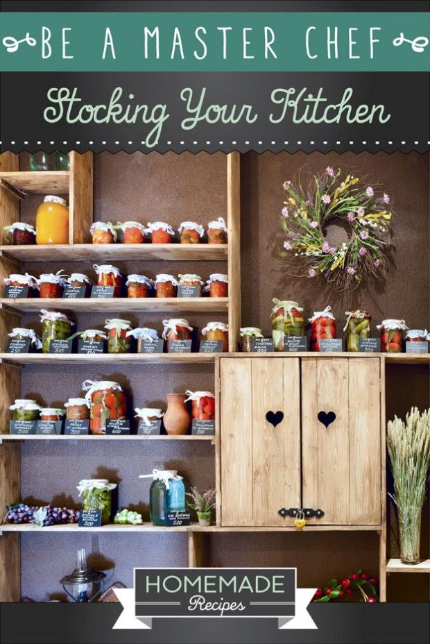 Be A Master Chef: Stocking Your Kitchen by Homemade Recipes at http://homemaderecipes.com/cooking-101/how-to-be-a-master-chef-in-10-days-stocking-your-kitchen/