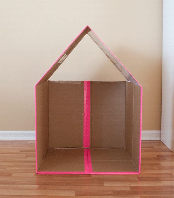 Activities, Ideas, Travel, Movies & Technology for Kids - All for the Boys - Collapsible CardboardPlayhouse